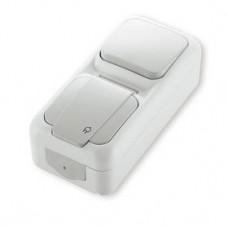 Блок вимикач + розетка з заземленням viko Palmiye